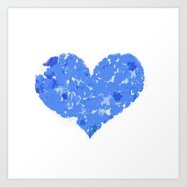 A Heart Of Blue Flowers Art Print