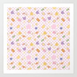 cardcaptor sakura cute pattern Art Print