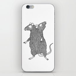 Two Headed Rat, I Love You iPhone Skin