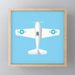 F6F Hellcat WWII Fighter Aircraft - Sky Framed Mini Art Print
