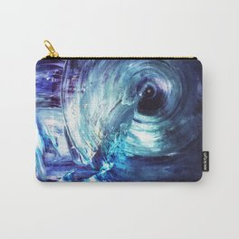Paradox Rift - Purple Blue Abstract Painting Carry-All Pouch