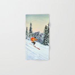 Skiing The Clear Leader Hand & Bath Towel