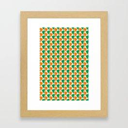 wavy Irish hearts Framed Art Print