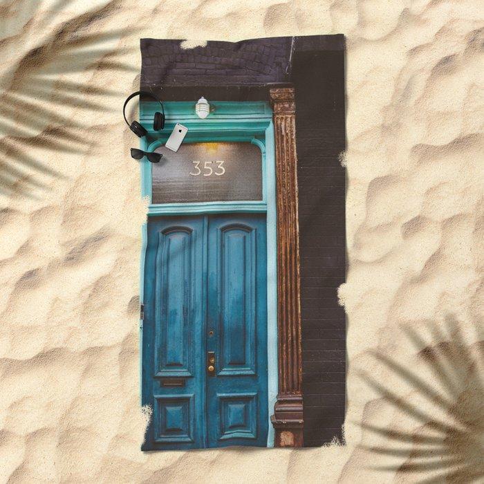 Brooklyn Door II Beach Towel