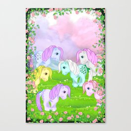 g1 my little pony collector ponies Canvas Print