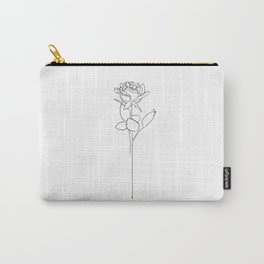 Rose Line Art Carry-All Pouch