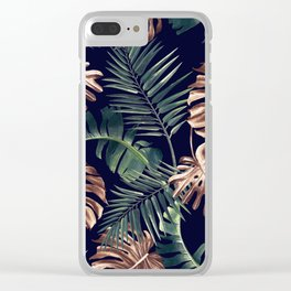 Tropical Garden - Night Clear iPhone Case