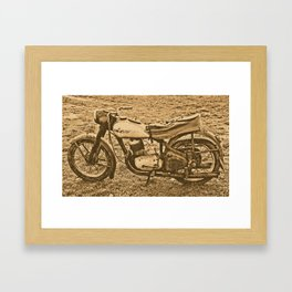 Jawa motorcycle Framed Art Print