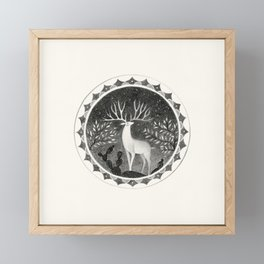 "FS. ""Resonance"" deer Framed Mini Art Print"