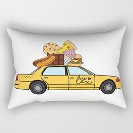 The Eats By Lex Cab Rectangular Pillow