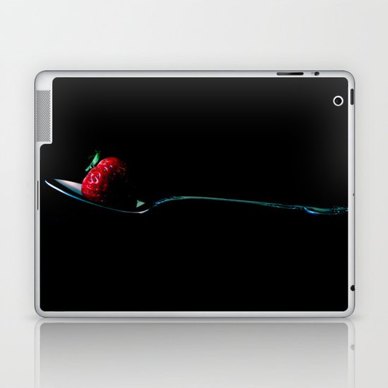 Strawberry on Vintage Spoon Laptop & iPad Skin