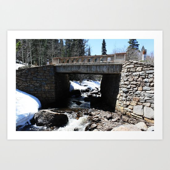 Trail Bridge Art Print