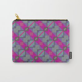 Grey Purple Aztec Pattern Carry-All Pouch