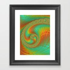 JuliaBrot Spiral Framed Art Print