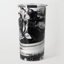 Astronauts and flowers Travel Mug
