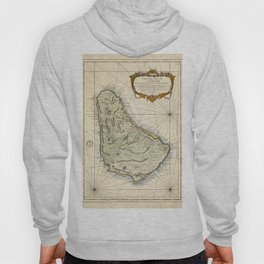 Map of Barbados 1758 Hoody