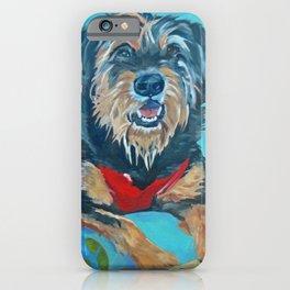 Rescue Mutt Dog Portrait iPhone Case