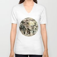 italian V-neck T-shirts featuring Italian dish by Anand Brai