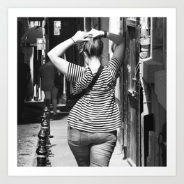 Somewhere in your city - Street photography Art Print