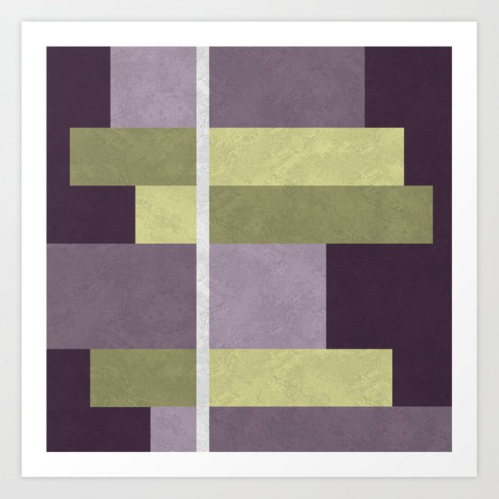 Geometric Marble 05 (abstract) Art Print