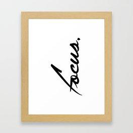 Focus - version 1 - black Framed Art Print