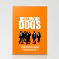 reservoir dogs Stationery Cards featuring Reservoir Dogs Movie Poster by FunnyFaceArt
