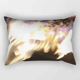 Blue Flame Rectangular Pillow
