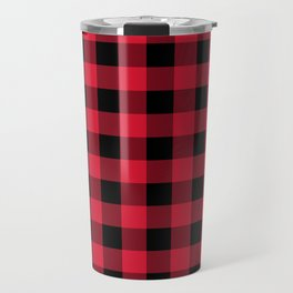 Buffalo Plaid Red Black Lumberjack Pattern Travel Mug