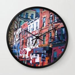Grove Street in West Village Wall Clock