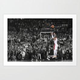 Damian Lillard vs OKC Dame Time Poster Port-land Trail Blazers Basketball Hand Made Posters Canvas Print Wall Art Man Cave Gift Home Decor Art Print