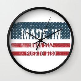 Made in Juana Diaz, Puerto Rico Wall Clock