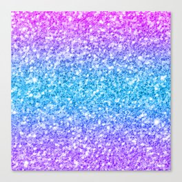 Colorful glam glitter and sparkles Canvas Print