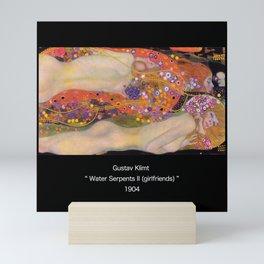 """Gustav Klimt, """" Water Serpents II """" Mini Art Print"""