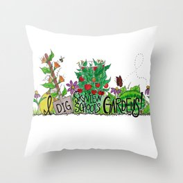 I Dig Skyview School Gardens! Throw Pillow
