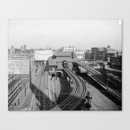 Dudley Station on the Boston Elevated Railway 1904 Canvas Print
