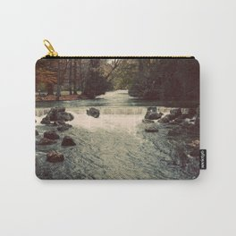 Rocky River Waterfall Englischer Garten Germany Color Photo Isar River Carry-All Pouch