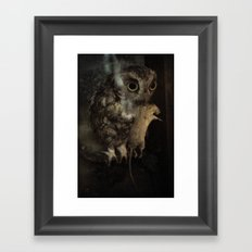 The Owl and the Mouse Framed Art Print