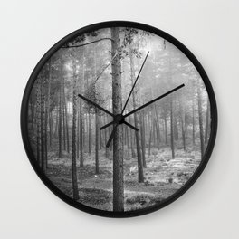 """Rectilineum"". BW. Secret places. Foggy dreams. Wall Clock"