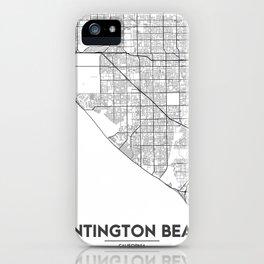 Minimal City Maps - Map Of Huntington Beach, California, United States iPhone Case