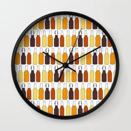 Vintage Beer Bottles Wall Clock