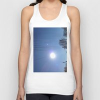 the wire Tank Tops featuring High Wire by Max Jones