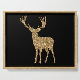 Sparkling golden deer - Wild Animal Animals Serving Tray