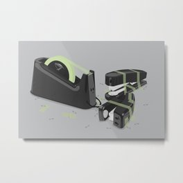 Tape is stronger Metal Print