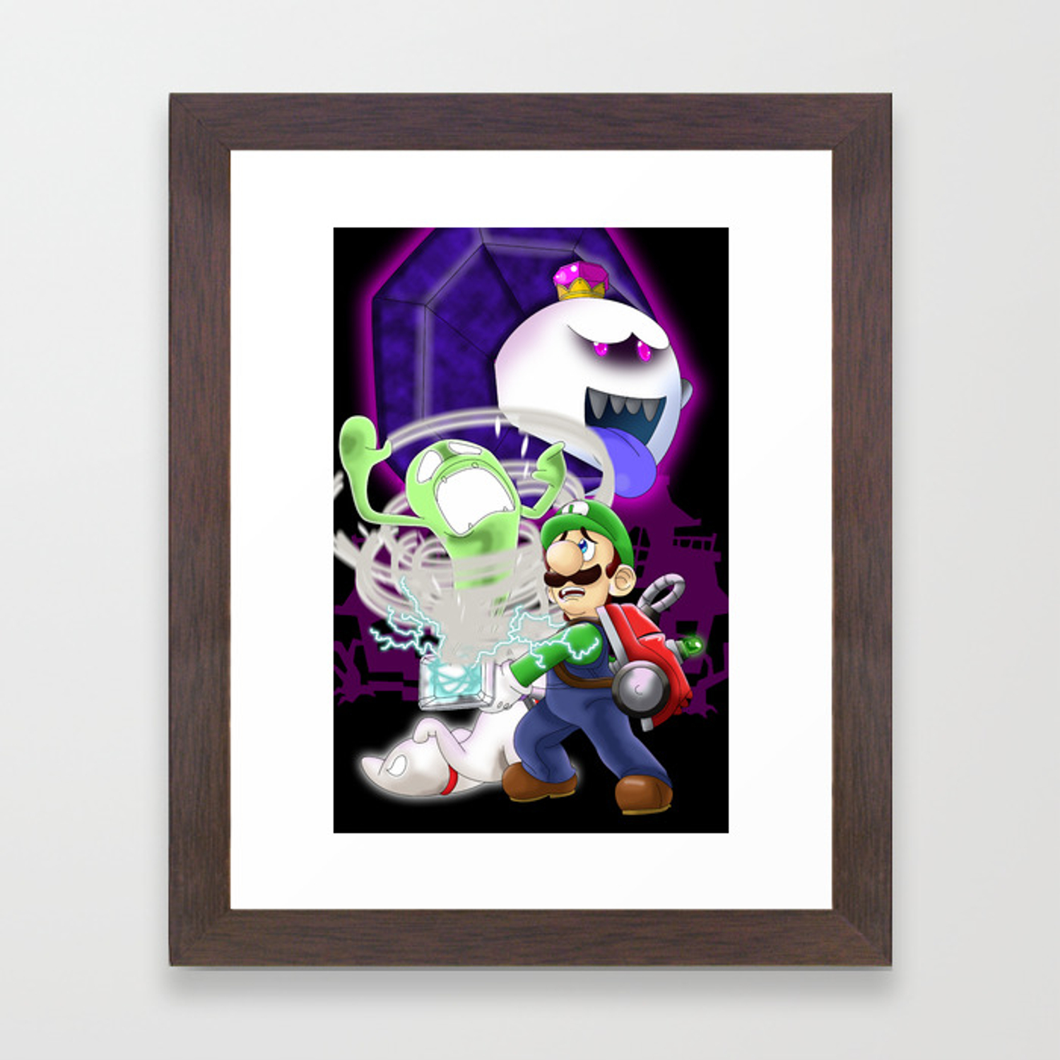 Luigi S Mansion Dark Moon Framed Art Print By Kurewkreations