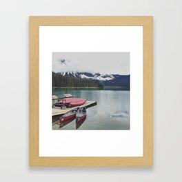 Canoes on the Lake Framed Art Print