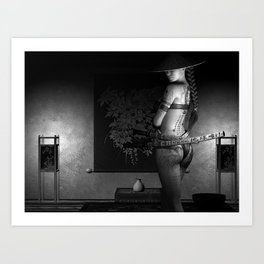 Never Vulnerable B&W Art Print