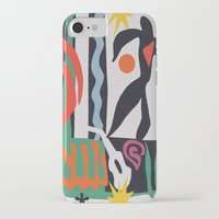matisse iPhone & iPod Cases featuring inspired to Matisse (black) by Chicca Besso