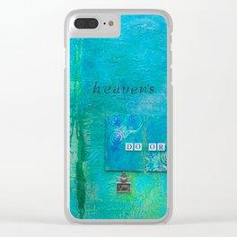 Knockin on Heavens Door Clear iPhone Case