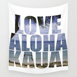 Love Aloha Kauai Wall Tapestry