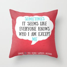 Simon vs the Homo Sapiens Agenda quote Throw Pillow